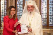 Simona Halep a primit Crucea Patriarhală de la Patriarhul Daniel