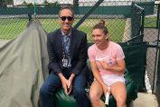 Simona Halep, alături de Darren Cahill, la Wimbledon