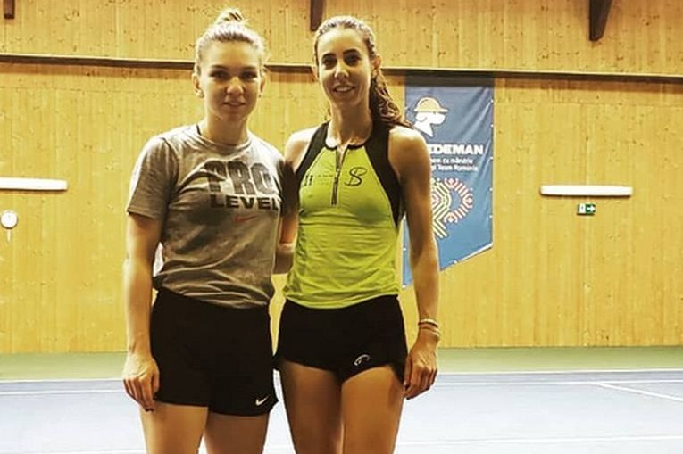 Simona Halep și Mihaela Buzărnescu s-au antrenat de multe ori împreună