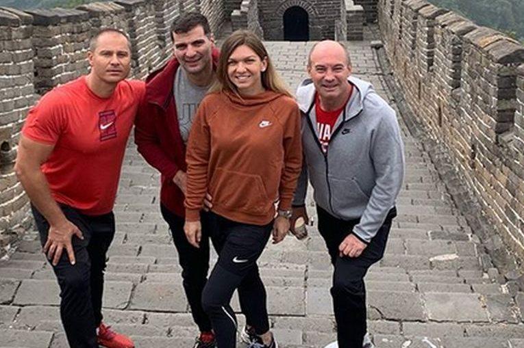 Simona Halep și iubitul ei, Toni Iuruc, alături de The Cercel și Daniel Dobre, la ziua Simonei Halep