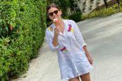 Simona Halep mănâncă fericită înghetata