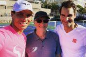 Roger Federer și Rafael Nadal, alături de Bill Gates, într-un selfie făcut la Johannesburg