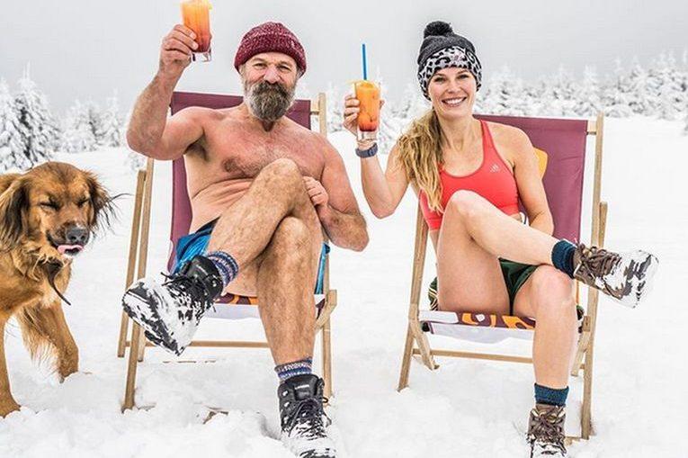 Caroline Wozniacki a făcut plajă pe zăpadă