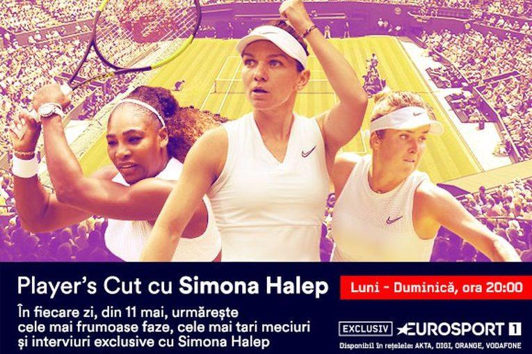 Simona Halep are o săptămână dedicată la Eurosport în perioada 11-17 mai 2020