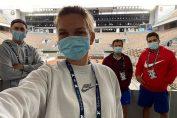 Simona Halep și echipa ei, înaintea unui antrenament la Roland Garros 2020