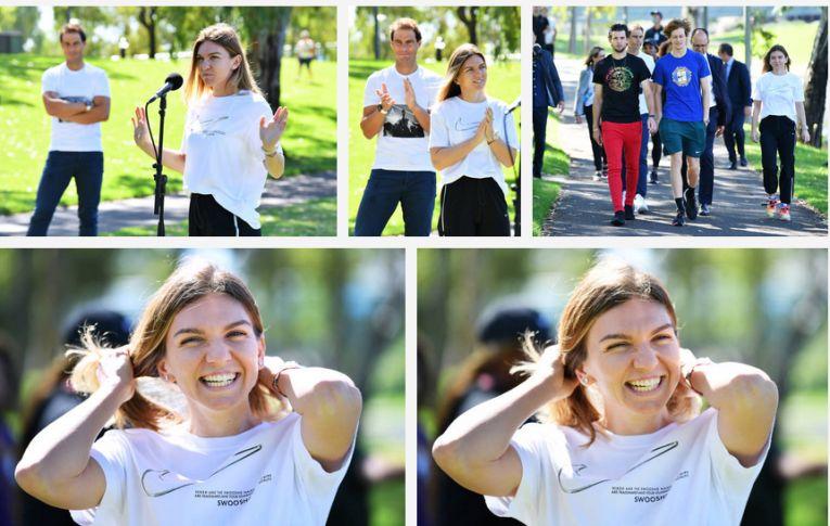 Simona Halep a fost foarte veselă la întâlnirea cu presa de la Adelaide