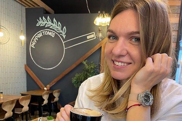 Simona Halep a putut savura prima cafea în restaurantul hotelului din Adelaide