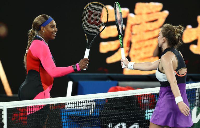 Simona Halep și Serena Williams, după meciul de la Australian Open