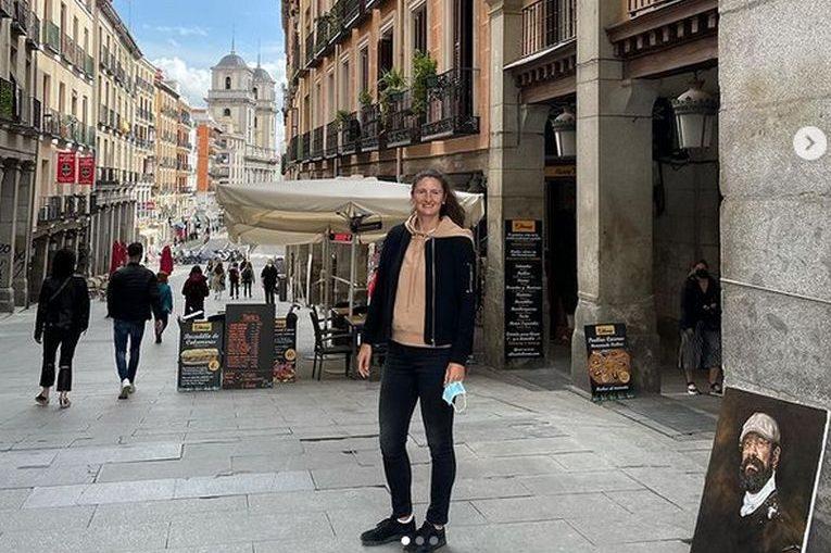 Irina Begu, în plimbare prin Madrid