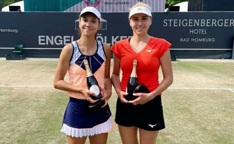 Raluca Olaru si Nadiia Kichenok, după finala de la Bad Homburg