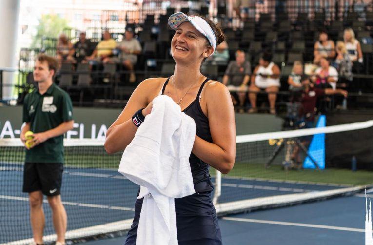 Irina Begu, fericită după calificarea în semifinalele de la Cleveland, obținută de ziua ei