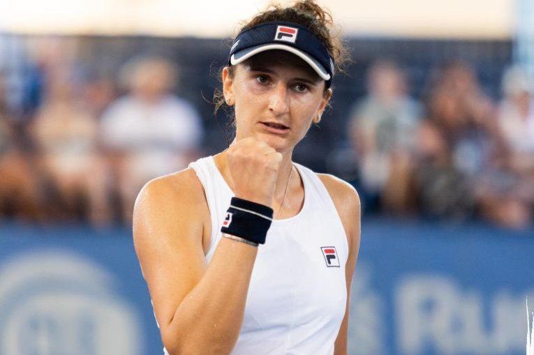 Irina Begu bucuroasă după un punct câștigat la Cleveland