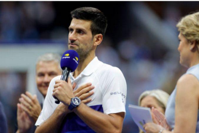 Novak Djokovic la festivitatea de premiere de la US Open 2021